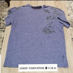John Varvatos Desert Rose Crewneck T-shirt.